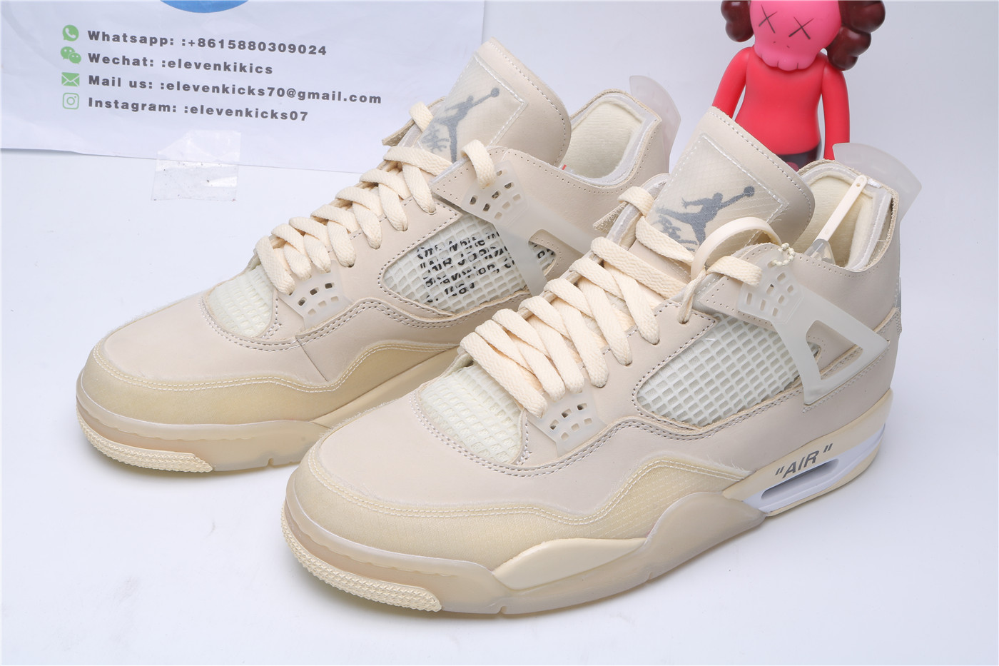 Jordan 4 Retro Off-White Sail