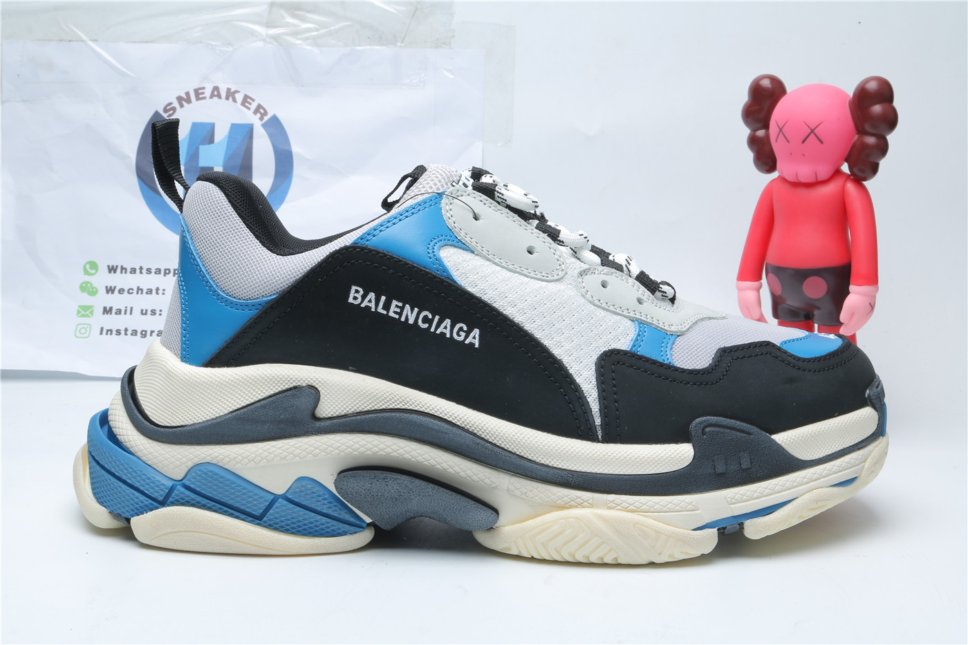 Balenciaga Triple S Blue And Black
