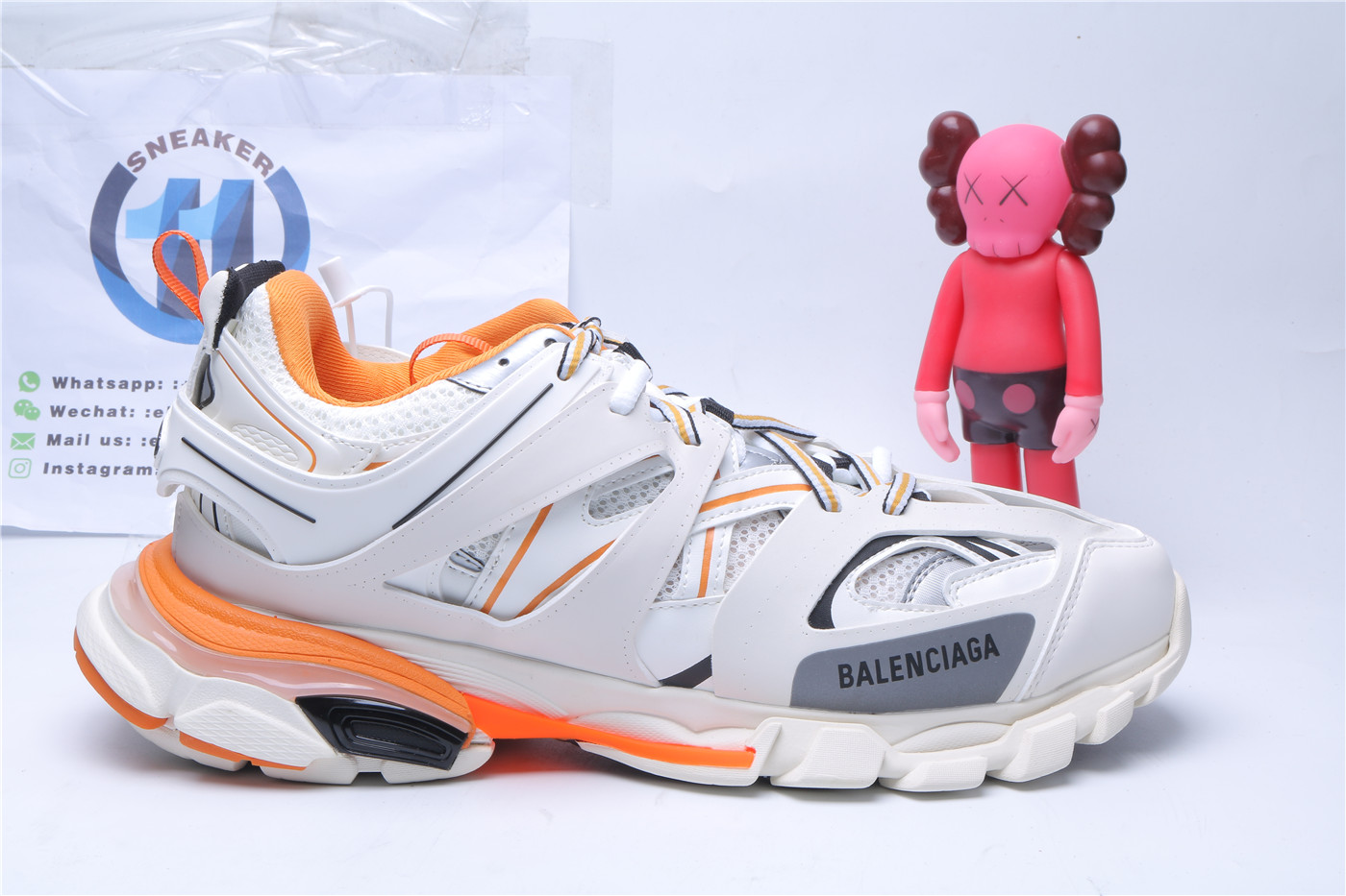 Balenciag Track White Orange