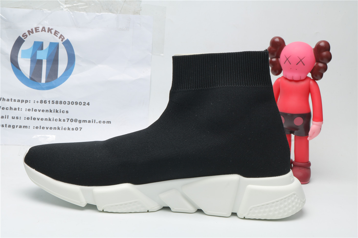 Balenciage Speed Trainer Black White