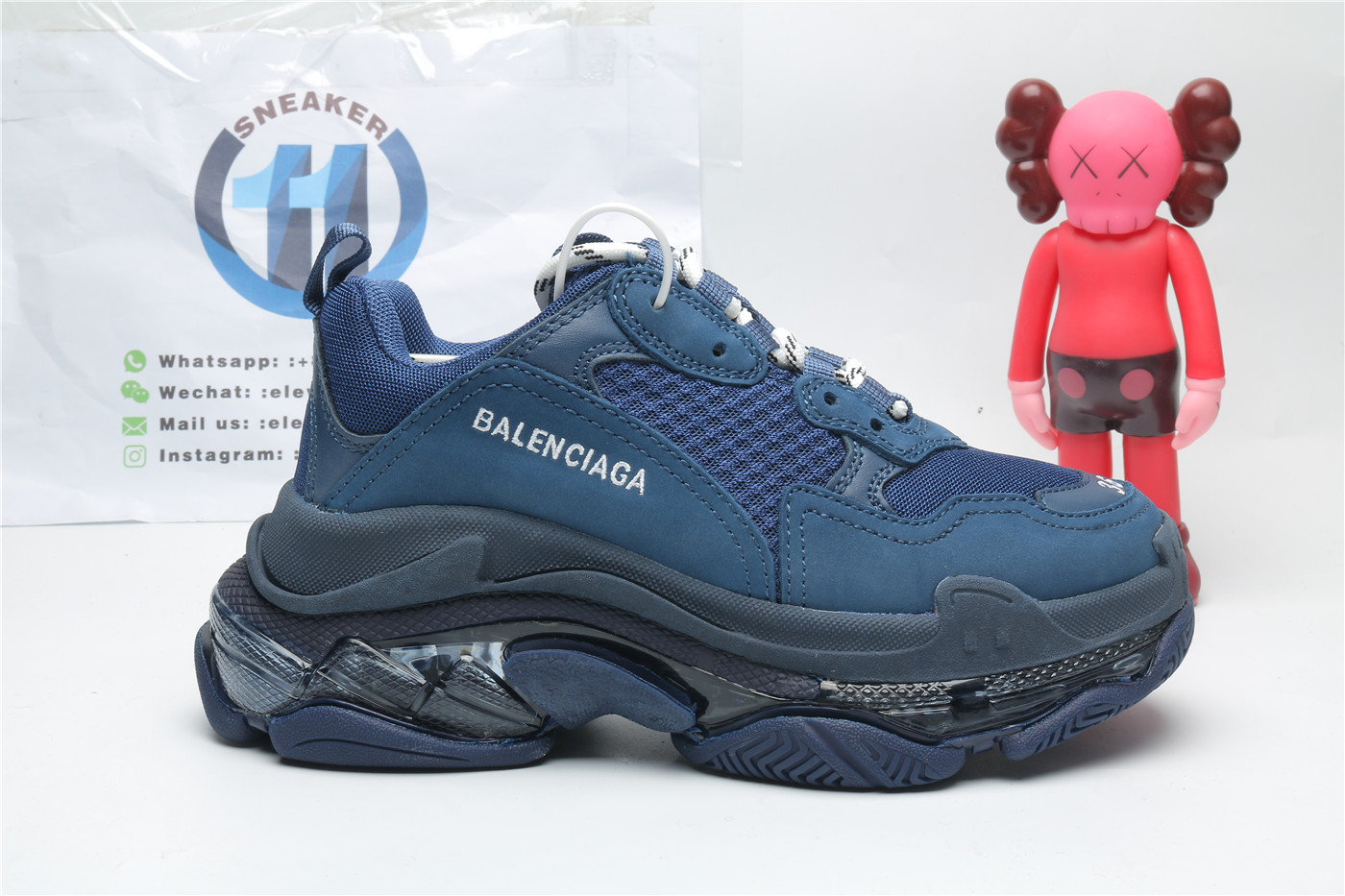 Balenciaga Triple S Clear Sole Navy