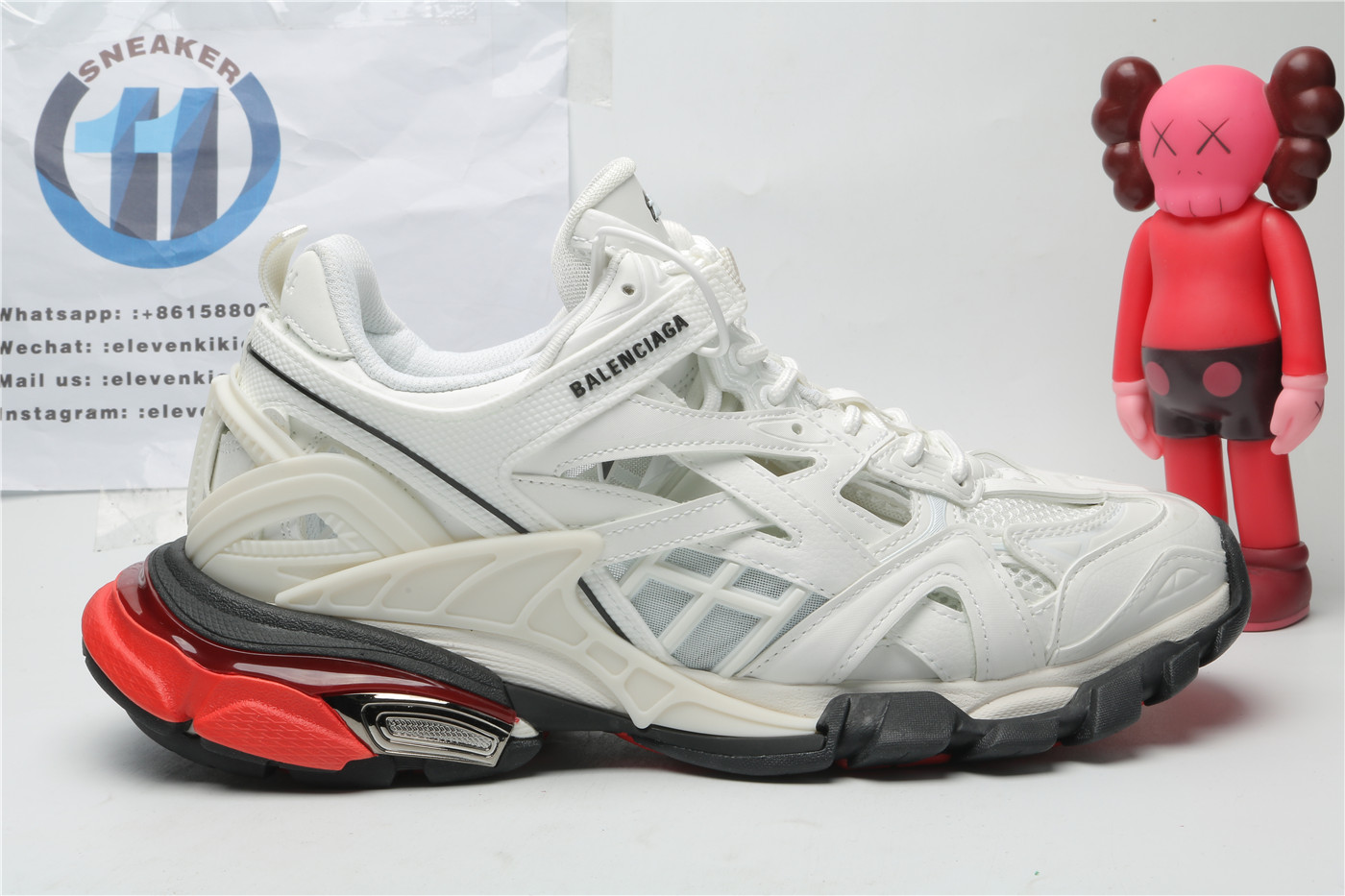 Balenciaga Track White and Red