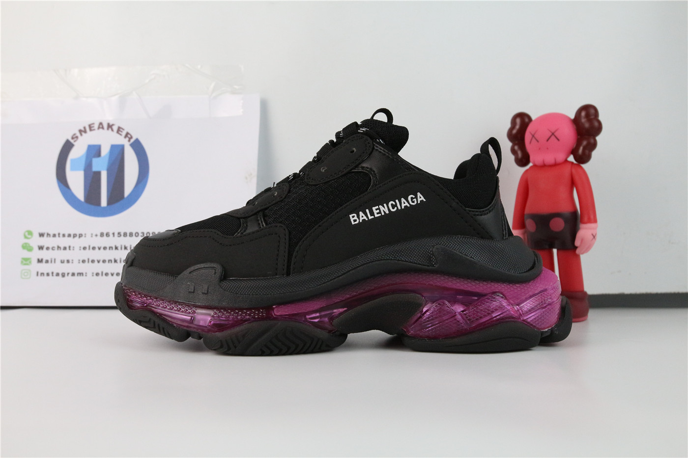 Balenciaga Triple S Clear Sole Neon Pink