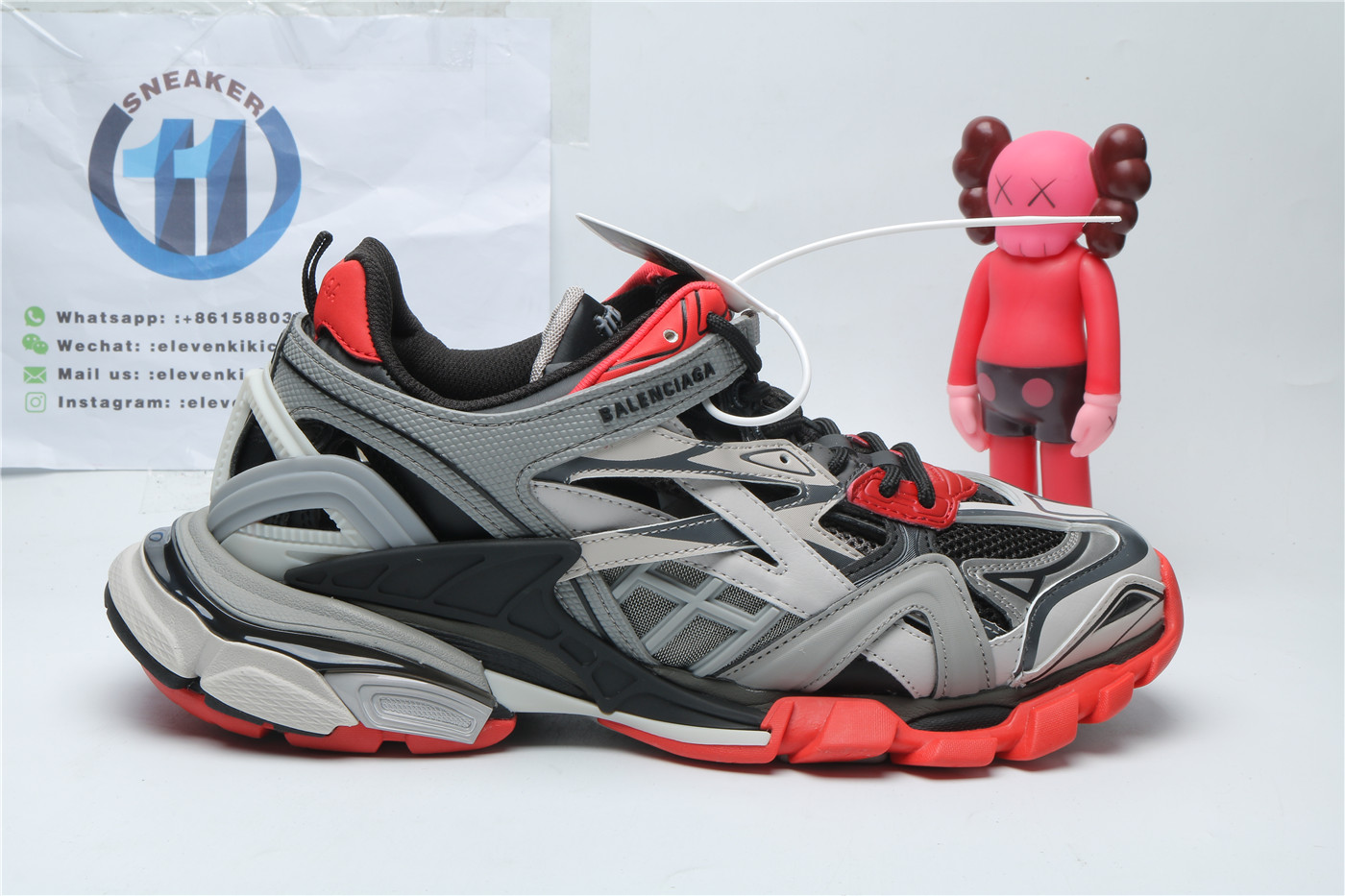 Balenciaga Track 2 Grey Black Red