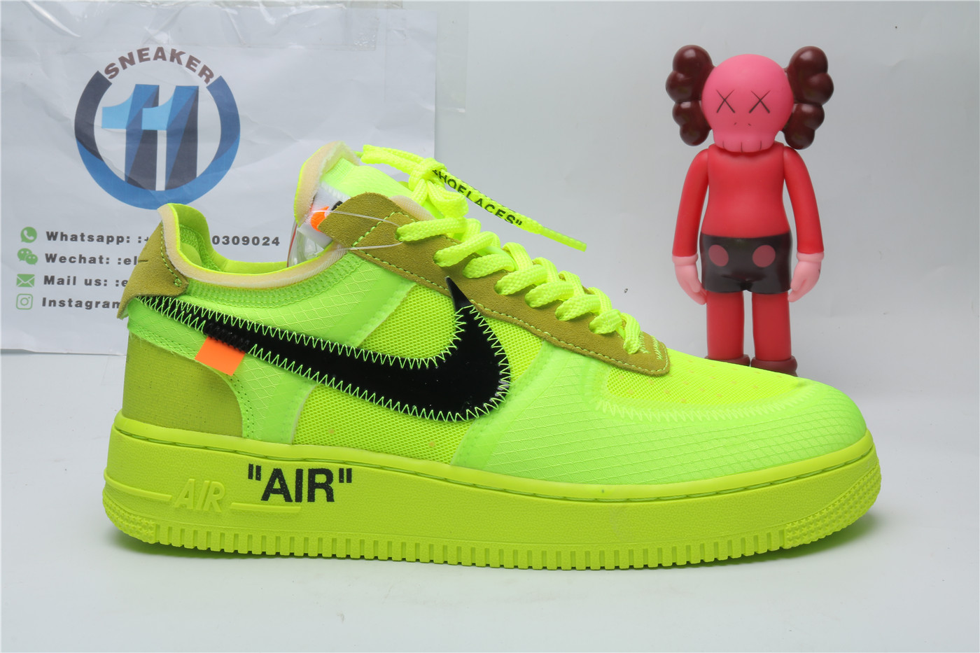Nike Air Force 1 Low Fluorescent Green OFF WHITE