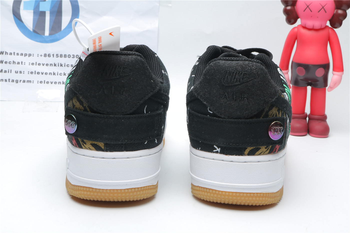 Travis Scott X Nike Air Force 1 Astroworld Black/Multi-Color